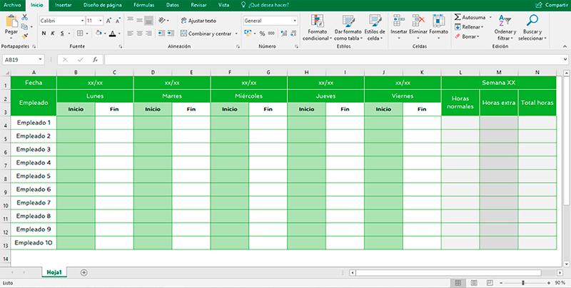 Resultado de imagen para tabla de control trabajo