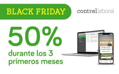 Consigue Control laboral al 50% durante el Black Friday 2020